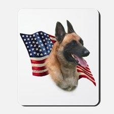 Malinois Flag Mousepad