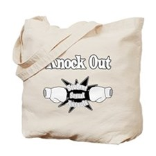Knock Out Student Sexual Assault white.png Tote Ba