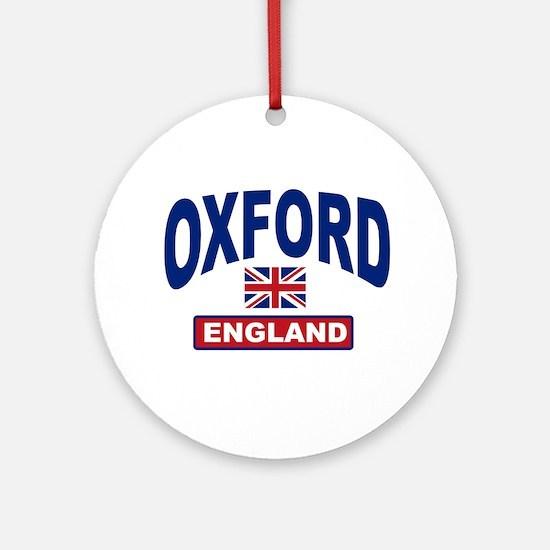 Oxford England Ornament (Round)