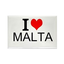 I Love Malta Magnets
