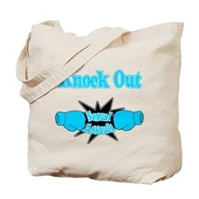 Knock Out Sexual Assault teal Tote Bag