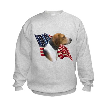 Am Foxhound Flag Kids Sweatshirt