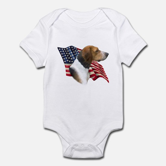Am Foxhound Flag Infant Bodysuit