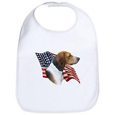 Am Foxhound Flag Bib