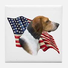 Am Foxhound Flag Tile Coaster
