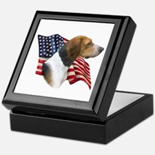 Am Foxhound Flag Keepsake Box