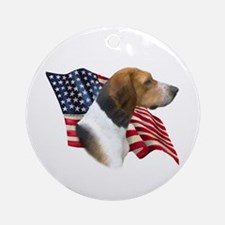 Am Foxhound Flag Ornament (Round)
