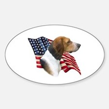 Am Foxhound Flag Oval Decal