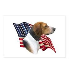 Am Foxhound Flag Postcards (Package of 8)