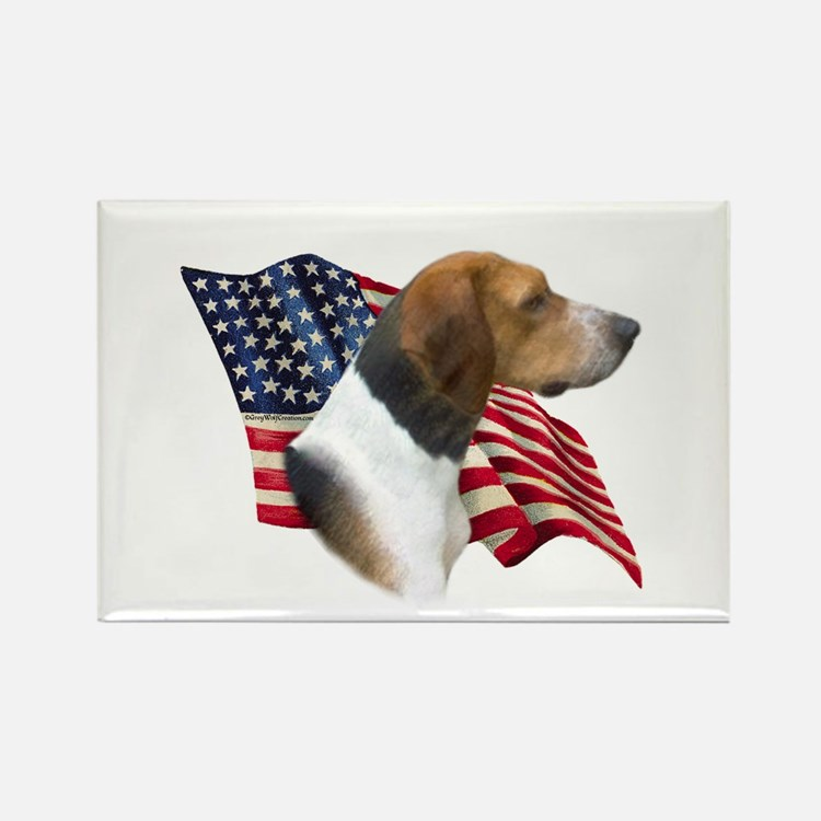 Am Foxhound Flag Rectangle Magnet