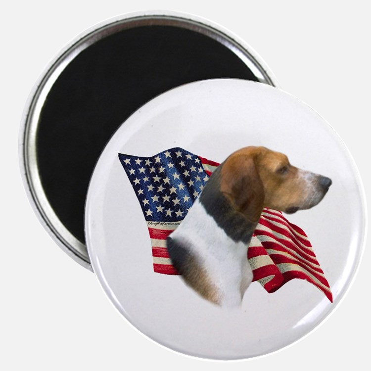 Am Foxhound Flag Magnet