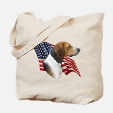 Am Foxhound Flag Tote Bag