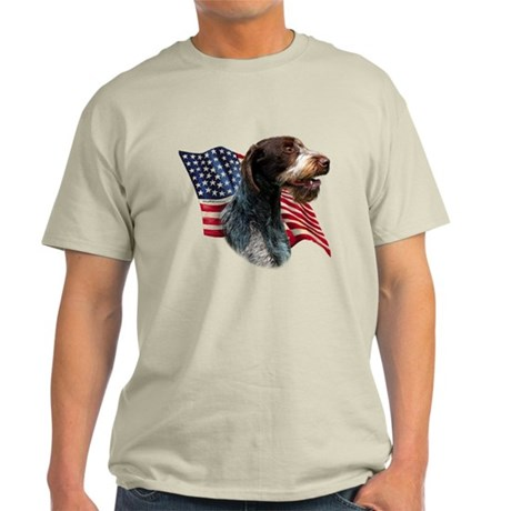 Wirehaired Flag Light T-Shirt