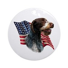 Wirehaired Flag Ornament (Round)