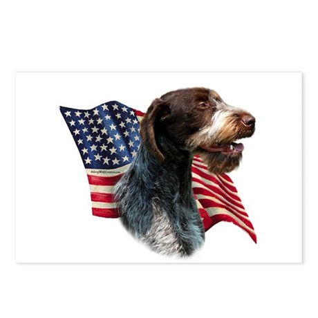 Wirehaired Flag Postcards (Package of 8)