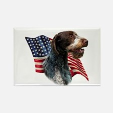 Wirehaired Flag Rectangle Magnet