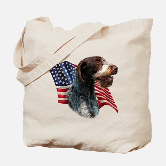 Wirehaired Flag Tote Bag