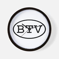 BTV Oval Wall Clock