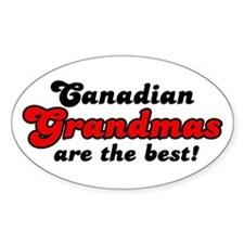 Canadian Grandma Oval Decal