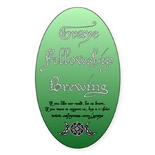New Brewing Label Oval Decal