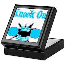 Knock Out Batten Disease teal.png Keepsake Box