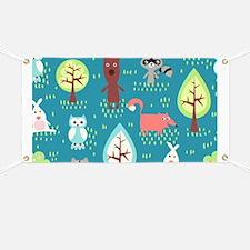 Woodland Animals Banner