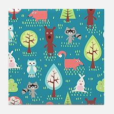 Woodland Animals Tile Coaster