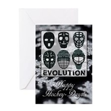 Hockey Goalie Mask Evolution Xmas Greeting Card