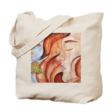 Flame Haired Girl Tote Bag