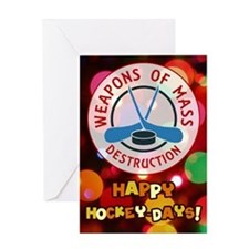 Hockey Weapons Christmas Greeting Card