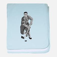 hockey player baby blanket