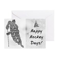 Hockey Player Typography Greeting Cards (Pk of 20)