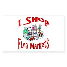 Flea Markets Rectangle Decal