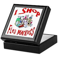 Flea Markets Keepsake Box