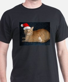 Christmas Orange Tabby Cat T-Shirt