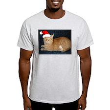 Christmas Orange Tabby Cat T-Shirt