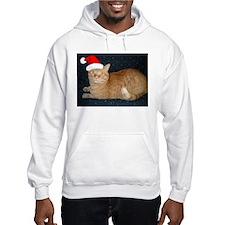 Christmas Orange Tabby Cat Hoodie