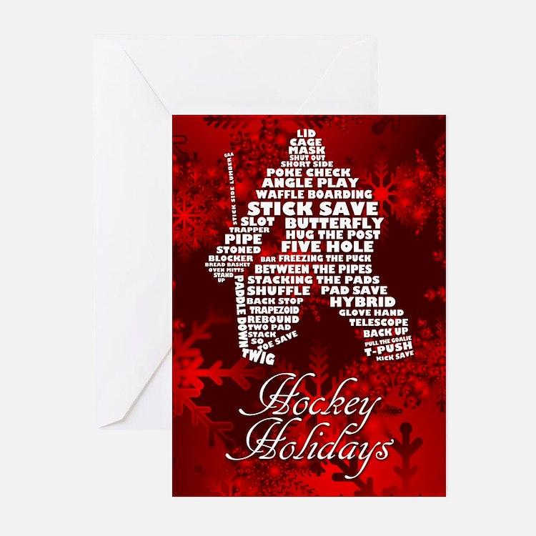 Hockey Holiday Greeting Cards Card Ideas Sayings