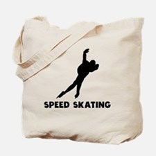 Speed Skating Tote Bag