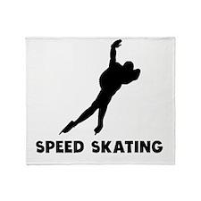 Speed Skating Throw Blanket