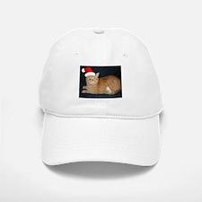 Christmas Orange Tabby Cat Baseball Baseball Baseball Cap