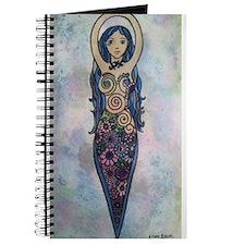 Floral spiral goddess Journal