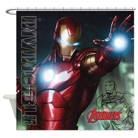 Avengers Invincible Iron Man Shower Curtain