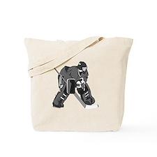 Gray Goalie Hockey Tote Bag