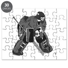 Gray Goalie Hockey Puzzle