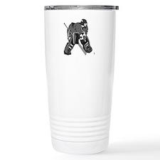 Gray Goalie Hockey Travel Mug