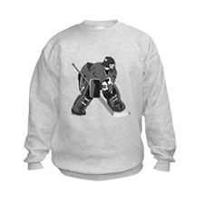 Gray Goalie Hockey Sweatshirt