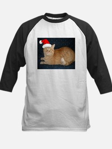 Christmas Orange Tabby Cat Baseball Jersey
