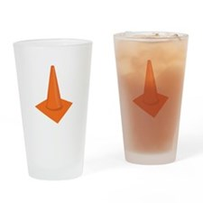 Traffic Cone Drinking Glass
