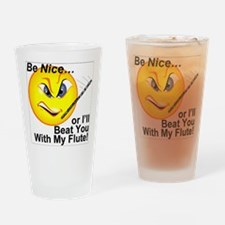 Beat with Flute Drinking Glass